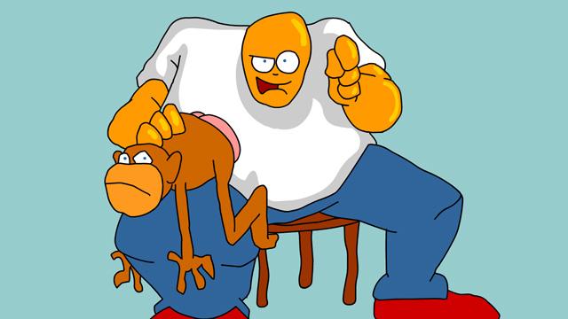 Look at My Monkey - Joe Cartoon