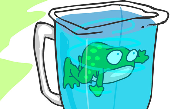 Frog in a Blender - Joe Cartoon